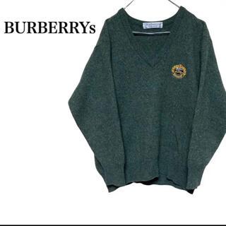 バーバリー(BURBERRY)の【超希少】激レア 90s BURBERRYs  モヘアニット 刺繍 イギリス製(ニット/セーター)