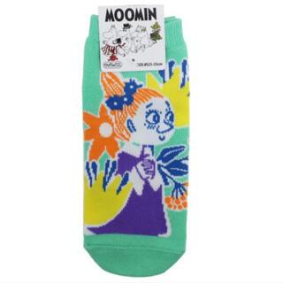 リトルミー(Little Me)の【靴下】新品 ムーミン レディースソックス フラワーブロック ミムラ(ソックス)