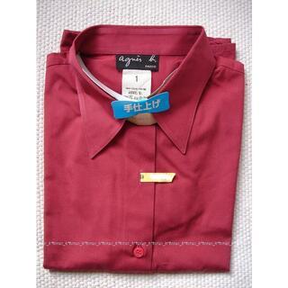 アニエスベー(agnes b.)のagnes b. アニエスベー ボルドー 長袖シャツ(シャツ/ブラウス(長袖/七分))