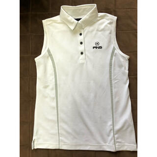 ピン(PING)のPING ピン ゴルフ ノースリーブ シャツ レディース ポロシャツ M(ウエア)