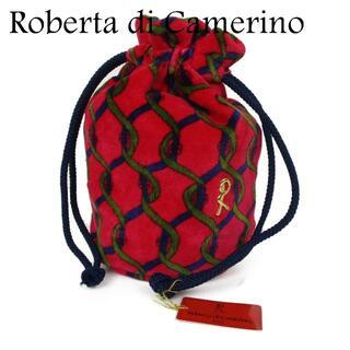 ロベルタディカメリーノ(ROBERTA DI CAMERINO)のロベルタ ディ カメリーノ コットン 巾着式 袋 ポーチ 小物入れ(ポーチ)