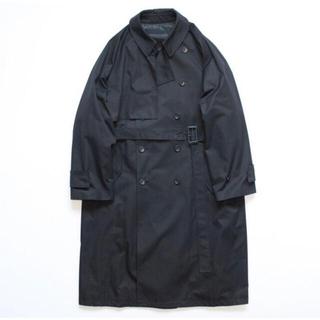 マルタンマルジェラ(Maison Martin Margiela)のstein LAY OVERSIZED OVERLAP COAT BLACK(トレンチコート)
