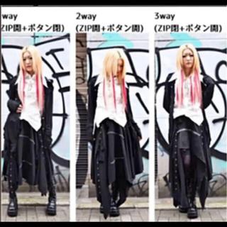 パンク ゴシック ロング ゴスロリ原宿3way ロングスカート(衣装一式)