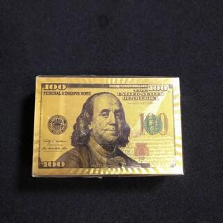 トランプ 100ドルゴールド プレイングカード黄金(トランプ/UNO)