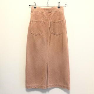 ロンハーマン(Ron Herman)のRHCronherman コーデュロイスカート ピンク(ロングスカート)