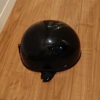 半帽タイプヘルメット メタリックブラック(ヘルメット/シールド)