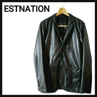 エストネーション(ESTNATION)の【高級・牛革】ESTNATION エストネーション レザージャケット 革ジャン (レザージャケット)