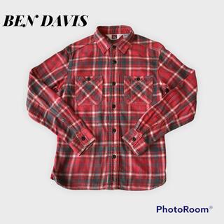 ベンデイビス(BEN DAVIS)の美品 BEN DAVIS チェックネルシャツ 綿100% Sサイズ(シャツ)