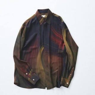 SUNSEA - MASU MARBLE PRINT SHIRTS RED マーブルプリントシャツ