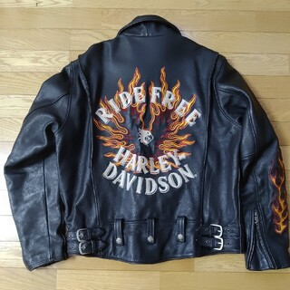 Harley Davidson - Harley Davidson 牛革製ライディングレザージャケット