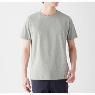 ムジルシリョウヒン(MUJI (無印良品))の【新品】インド綿 天竺編みクルーネック半袖Tシャツ グレー XL(Tシャツ/カットソー(半袖/袖なし))