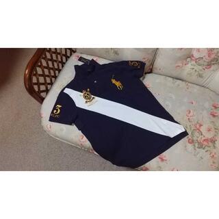 ラルフローレン(Ralph Lauren)の新品☆ラルフローレン ポロシャツ 紺 US M 3(ポロシャツ)