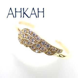 AHKAH - アーカー AHKAH K18YG ダイヤ フェザー リング パヴェ