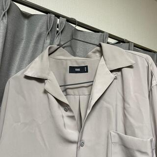 HARE - HARE 長袖開襟シャツ グレー