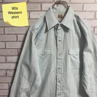 90s 古着 ヴィンテージ ウエスタンシャツ BDシャツ くすみカラー ゆるだぼ(シャツ)