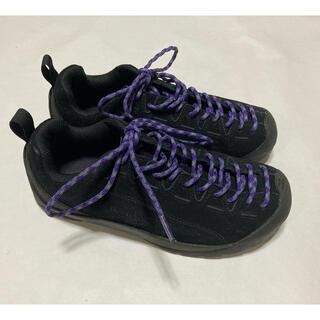 KEEN - KEEN キーン Jasper ジャスパー US7.5 24.5cm 黒 紫