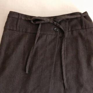パドカレ(pas de calais)のpas de calaisのウエストリボンとペチスカートが可愛い膝丈スカート(ひざ丈スカート)
