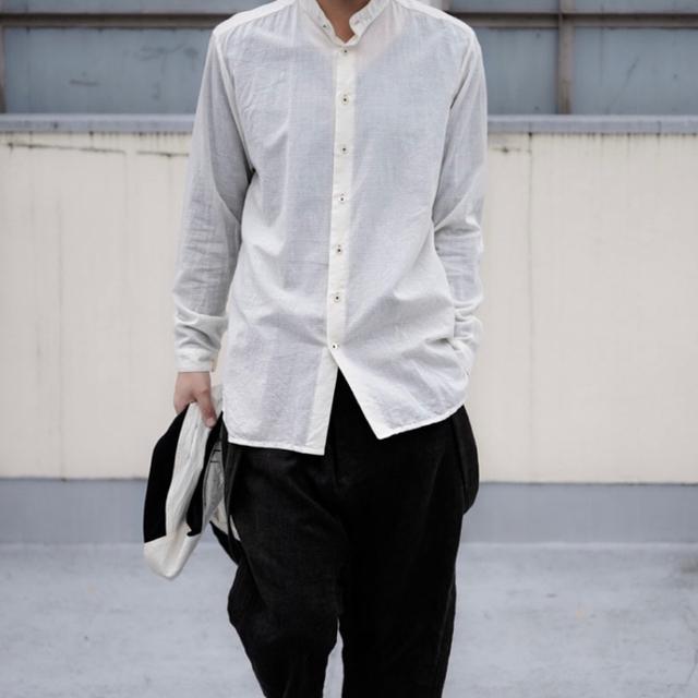 Paul Harnden(ポールハーデン)の19ss Geoffrey B.Small スタンドカラーシャツ XS メンズのトップス(シャツ)の商品写真