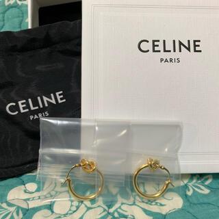 セリーヌ(celine)のCELINE / ノット スモールフープ / ゴールドフィニッシュ ブラス(ピアス)