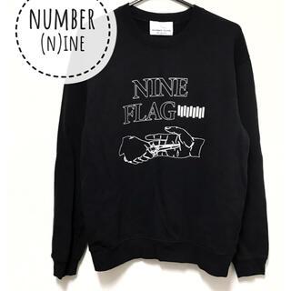 ナンバーナイン(NUMBER (N)INE)のNUMBER(N)INE【美品】ロゴ プリント 長袖 スウェット トップス(トレーナー/スウェット)