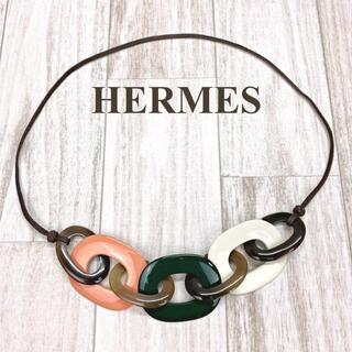 Hermes - エルメス ネックレス カランバ バッファローホーン マルチカラー
