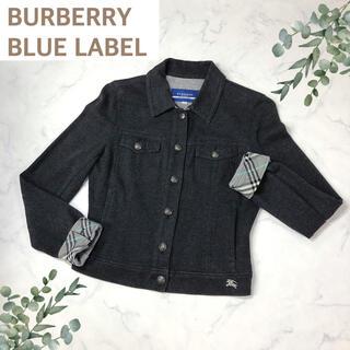 バーバリーブルーレーベル(BURBERRY BLUE LABEL)のバーバリーブルーレーベル(38)グレーのジャケット(テーラードジャケット)