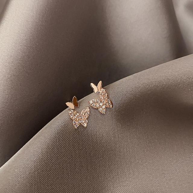 4℃(ヨンドシー)の新品 micro pave papillon pierce s925 post レディースのアクセサリー(ピアス)の商品写真