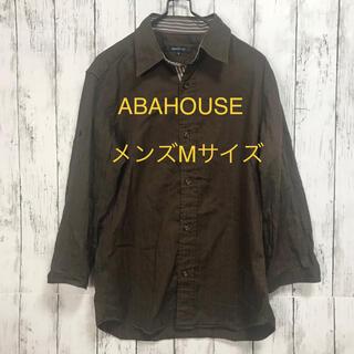アバハウス(ABAHOUSE)のアバハウスメンズ前開き七分袖シャツMサイズ(シャツ)