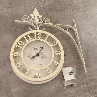 壁掛け時計  アンティーク調 お洒落 可愛い 白