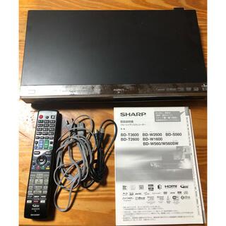 SHARP - シャープ ブルーレイレコーダー  BD-W1600 動作確認済み