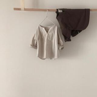 oatmeal スリットネックシャツ 韓国子供服