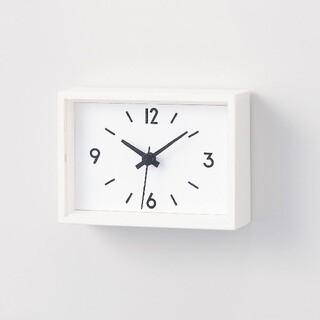 ムジルシリョウヒン(MUJI (無印良品))の駅の時計・ミニ STATION CLOCK/MINI(置時計)