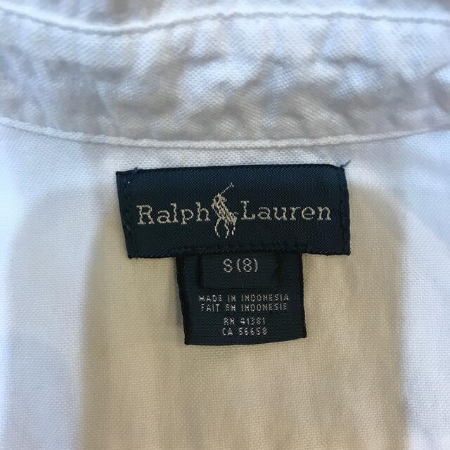 Ralph Lauren(ラルフローレン)のラルフローレン  白 ボーイズ シャツ キッズ/ベビー/マタニティのキッズ服男の子用(90cm~)(ブラウス)の商品写真