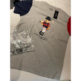 Ralph Lauren - 男女OK!XLバイカラー新品ラルフローレンベア  ポロベア Tシャツ正規未使用