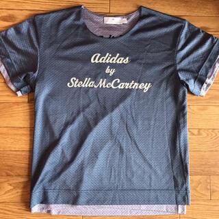 アディダスバイステラマッカートニー(adidas by Stella McCartney)のアディダスバイステラマッカートニー リバーシブルトップス M ブルーヨガやジムに(Tシャツ(半袖/袖なし))