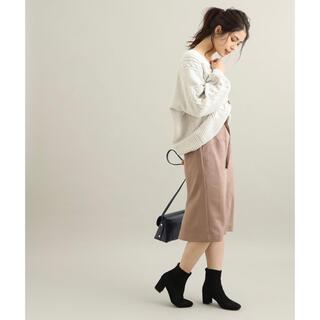 ヴィス(ViS)の【美品】エコスエードタイトスカート(ひざ丈スカート)