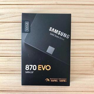 サムスン(SAMSUNG)の未開封 Samsung SSD 870 EVO 500GB SATA(PC周辺機器)