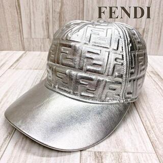 フェンディ(FENDI)のフェンディ キャップ ニッキーミナージュコラボ シルバー ズッカ(キャップ)