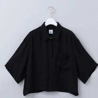 ビューティアンドユースユナイテッドアローズ(BEAUTY&YOUTH UNITED ARROWS)の6(ROKU)SHEER SHORT SHIRT/シャツ ブラック 黒(シャツ/ブラウス(半袖/袖なし))