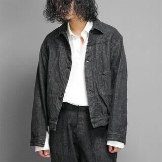 コモリ(COMOLI)のCOMOLI 21AW デニムジャケット BLACK/ECRU サイズ3(Gジャン/デニムジャケット)