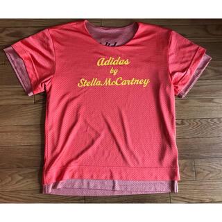 アディダスバイステラマッカートニー(adidas by Stella McCartney)のアディダスバイステラマッカートニーた リバーシブルトップス M ピンクオレンジ(Tシャツ(半袖/袖なし))