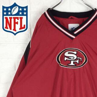 NIKE - NFL ナイロンジャケット プルオーバー ワンポイント刺繍ロゴ ゆるだぼ90s