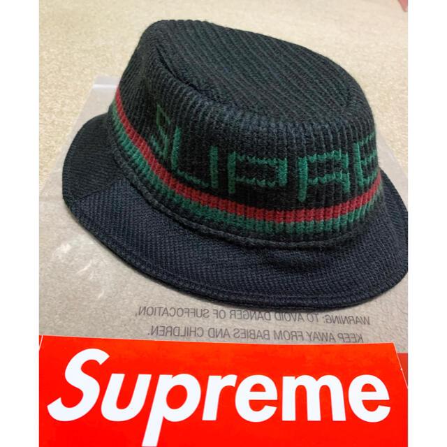 Supreme(シュプリーム)のSupreme Knit Logo Crusher ハット 【美品】 メンズの帽子(ハット)の商品写真
