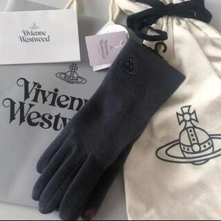 ヴィヴィアンウエストウッド(Vivienne Westwood)のVivienne Westwood ORB刺繍 ウール 手袋(手袋)