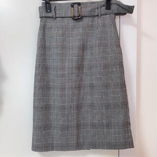 ヴィス(ViS)のSサイズ★VIS チェックタイトスカート グレンチェック(ひざ丈スカート)