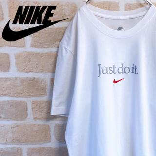 NIKE - NIKE ナイキ Tシャツ 半袖 白T Just do it 立体ロゴ サイズM
