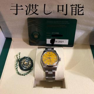 ロレックス(ROLEX)のROLEX オイスターパーペチュアル31 イエロー 新品未使用(腕時計(アナログ))