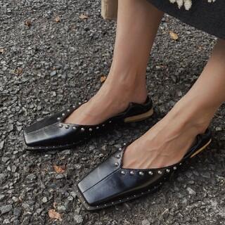 アメリヴィンテージ(Ameri VINTAGE)のアメリヴィンテージ スタッズ バブーシュ 靴(ローファー/革靴)
