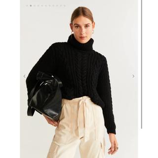 マンゴ(MANGO)のMango  Braided turtleneck sweater(ニット/セーター)