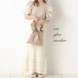 one after another NICE CLAUP - 新品 one after another カギ針ロングスカート